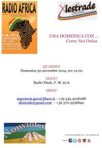 Locandina Radio Africa 30 Novembre 2014