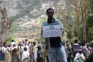 inaugurazione sistema irriguo Marwa Etiopia 2001