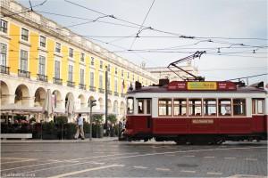Un tram a Lisbona, Portogallo